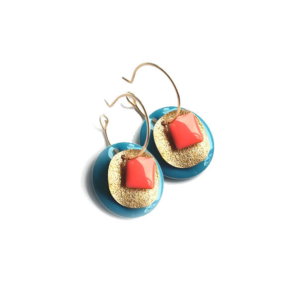 creoles or sequins email turquoise